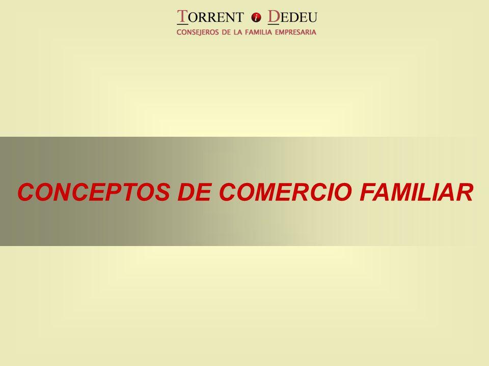 CONCEPTOS DE COMERCIO FAMILIAR