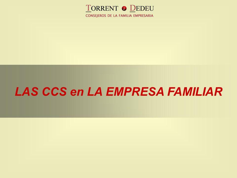 LAS CCS en LA EMPRESA FAMILIAR