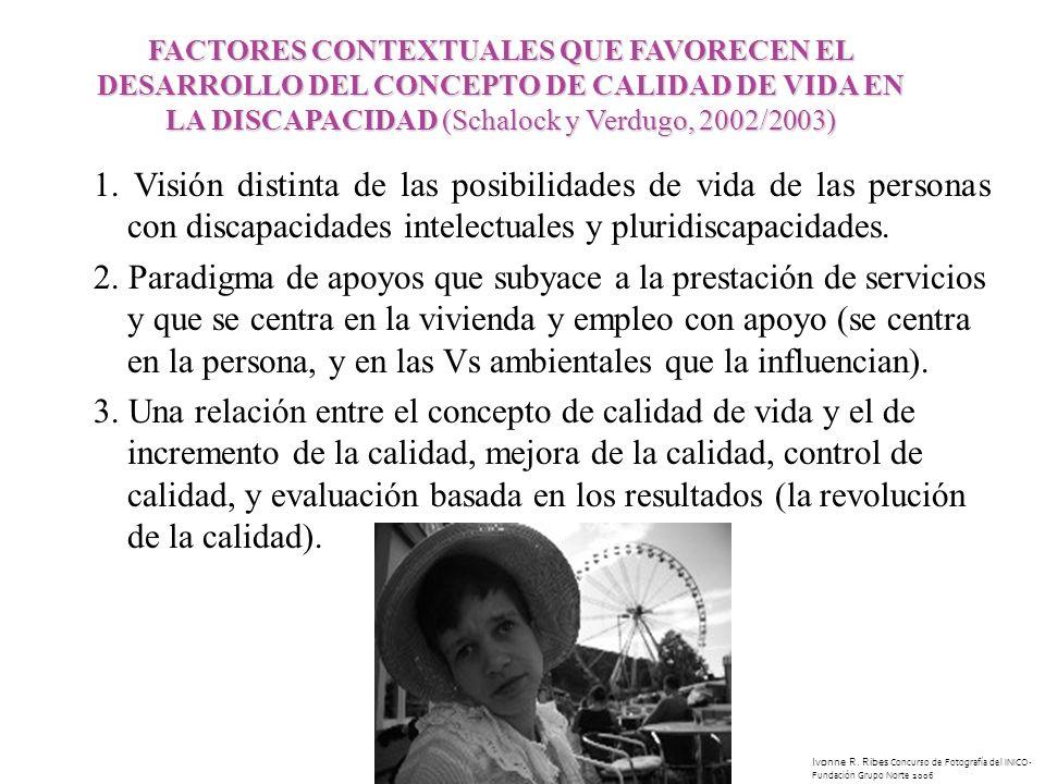 1. Visión distinta de las posibilidades de vida de las personas con discapacidades intelectuales y pluridiscapacidades. 2. Paradigma de apoyos que sub
