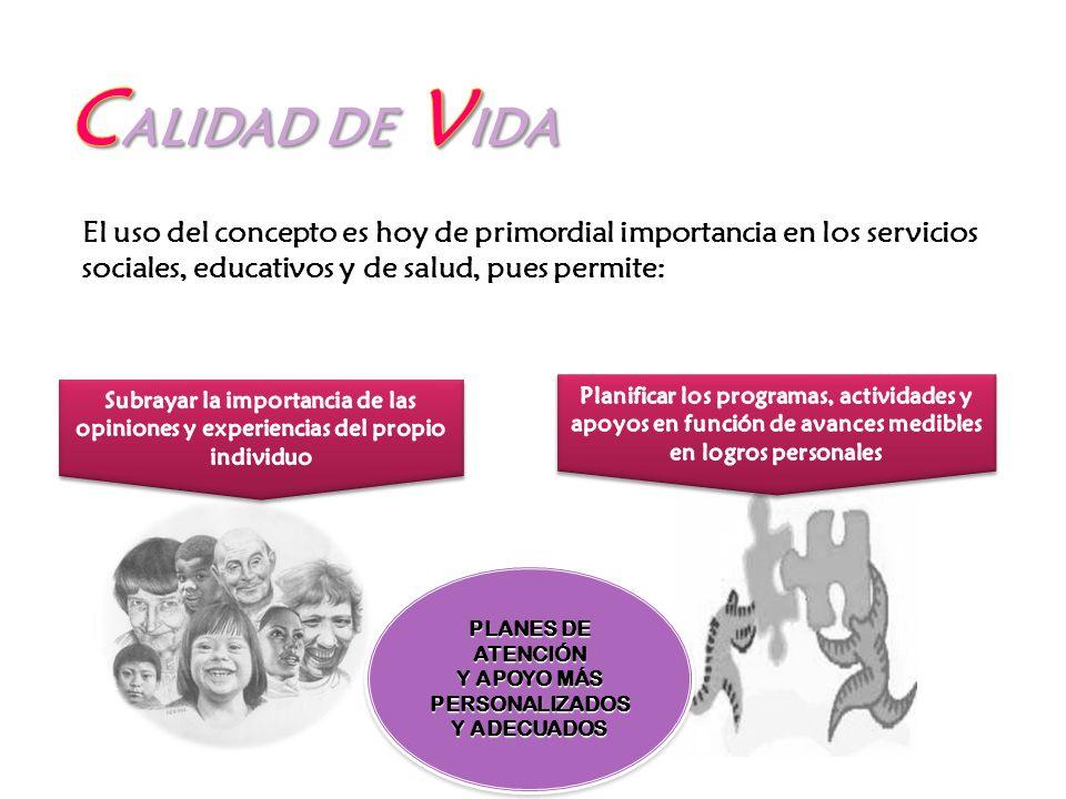El uso del concepto es hoy de primordial importancia en los servicios sociales, educativos y de salud, pues permite: PLANES DE ATENCIÓN Y APOYO MÁS PE