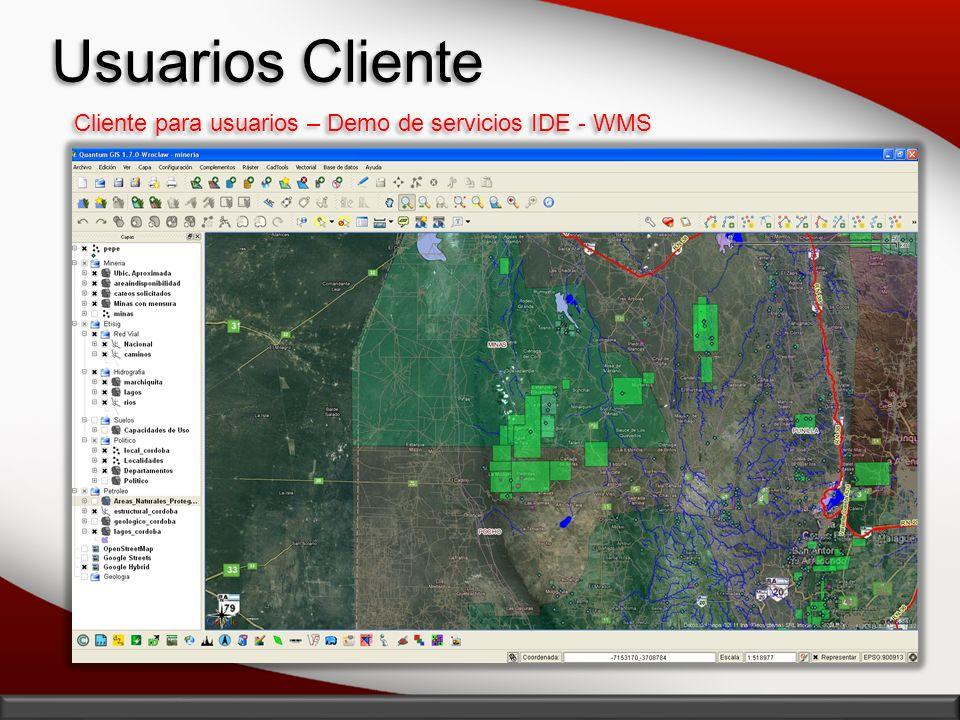 Cliente para usuarios – Demo de servicios IDE - WMS