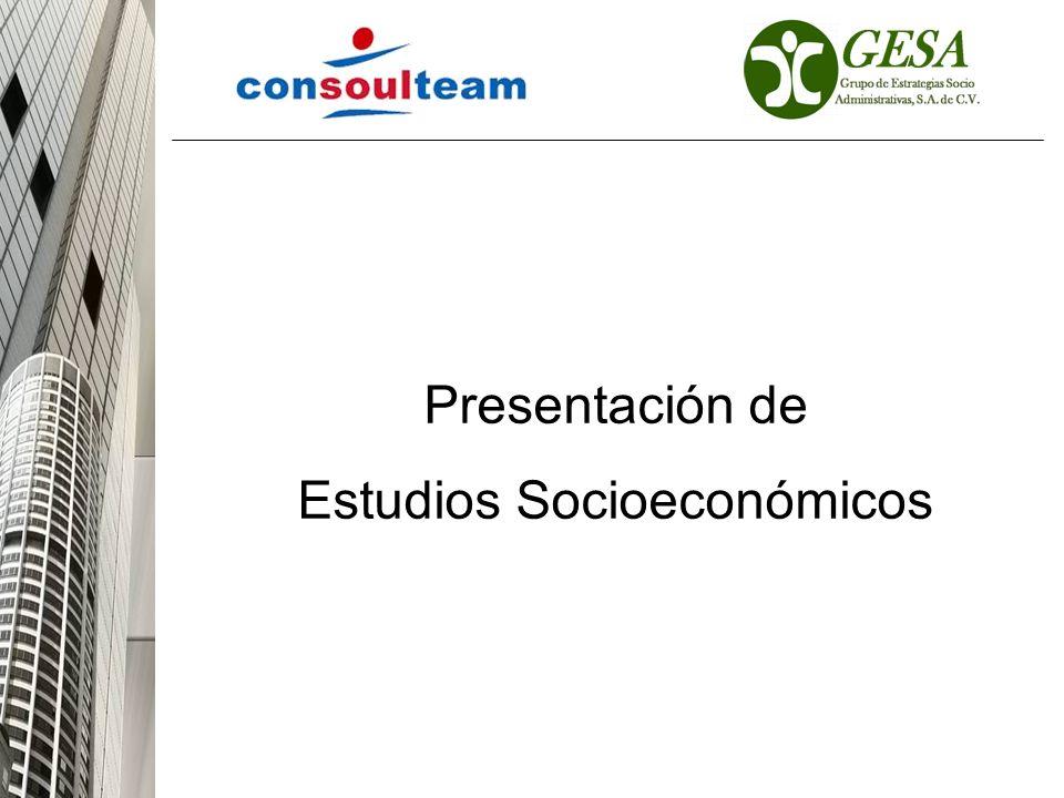 Presentación de Estudios Socioeconómicos