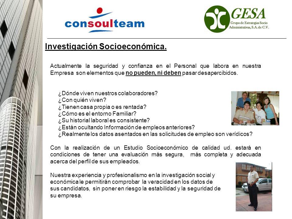 Investigación Socioeconómica.