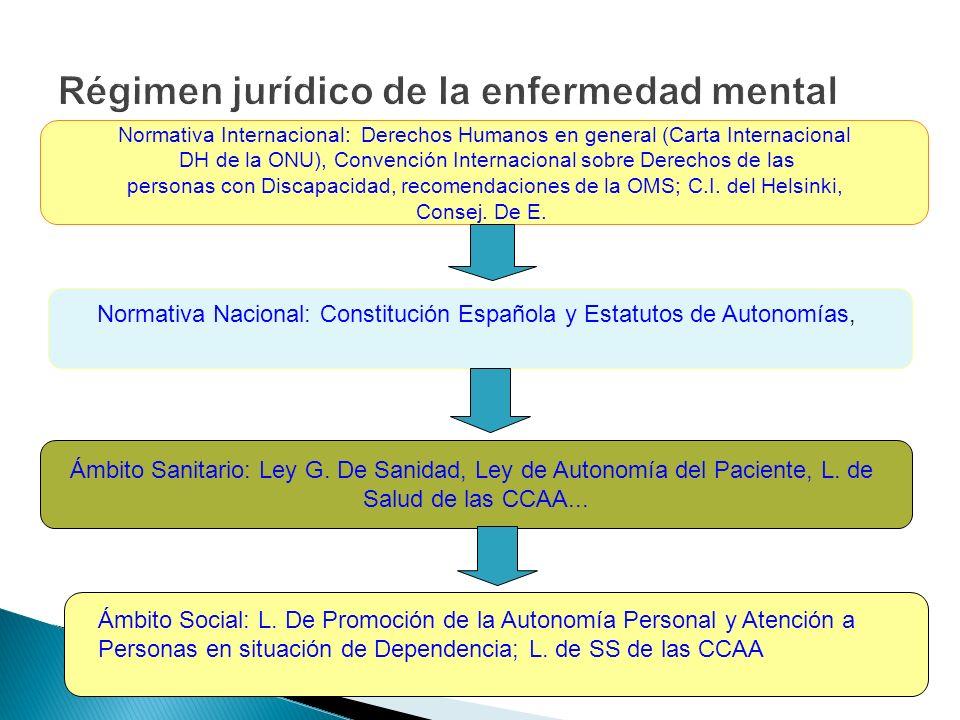 Normativa Internacional: Derechos Humanos en general (Carta Internacional DH de la ONU), Convención Internacional sobre Derechos de las personas con D