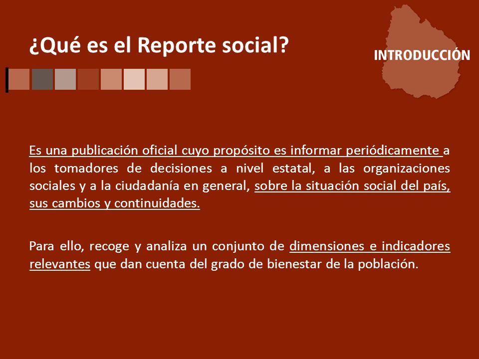 ¿Qué es el Reporte social.