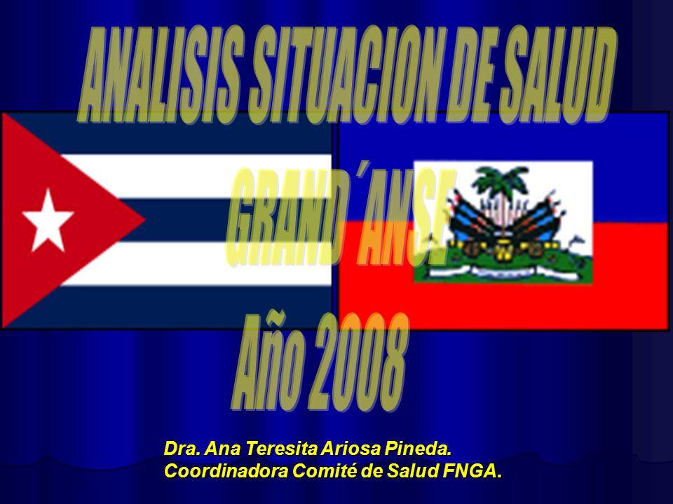 Dra. Ana Teresita Ariosa Pineda. Coordinadora Comité de Salud FNGA.