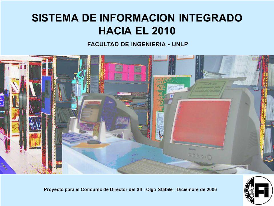 SISTEMA DE INFORMACION INTEGRADO HACIA EL 2010 Proyecto para el Concurso de Director del SII - Olga Stábile - Diciembre de 2006 FACULTAD DE INGENIERIA - UNLP