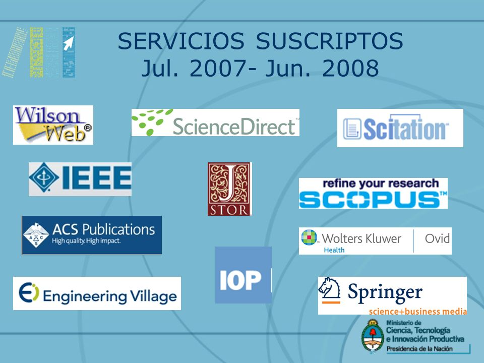 SERVICIOS SUSCRIPTOS Jul. 2007- Jun. 2008