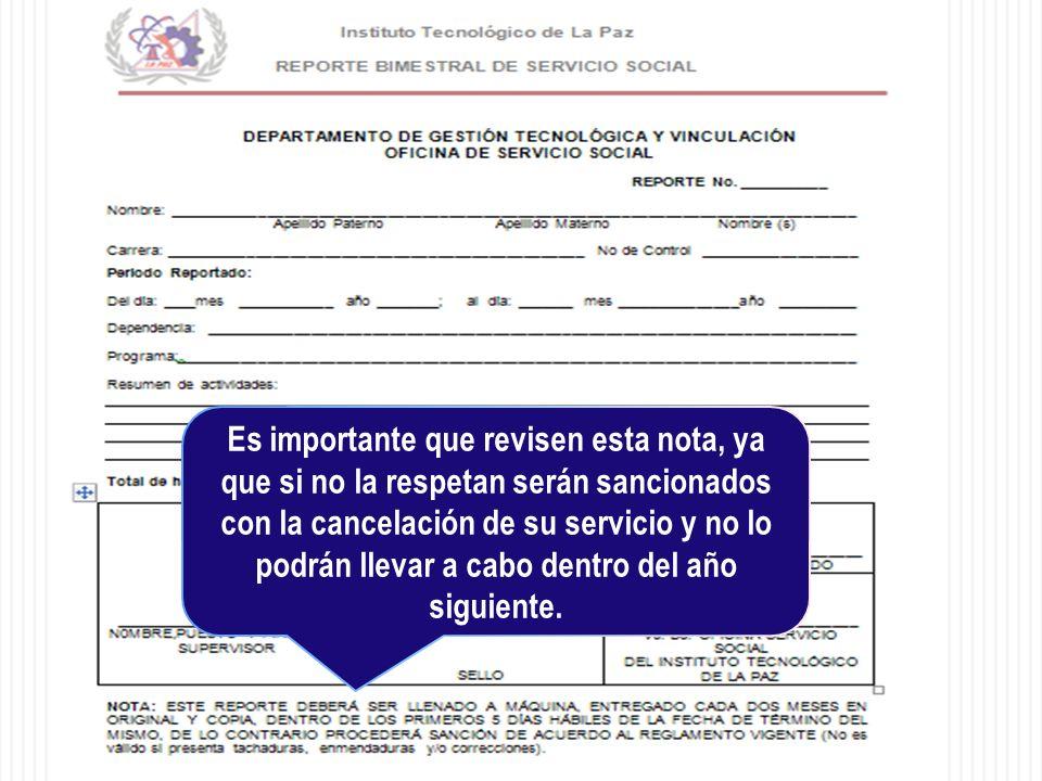Es importante que revisen esta nota, ya que si no la respetan serán sancionados con la cancelación de su servicio y no lo podrán llevar a cabo dentro