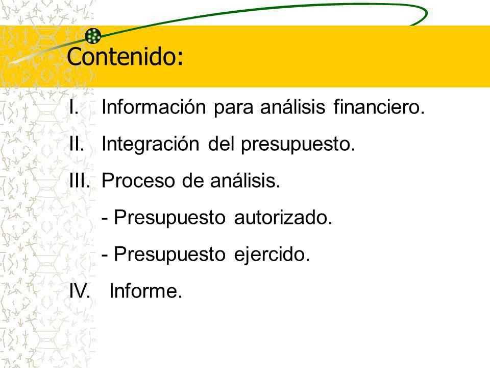 Contenido: I.Información para análisis financiero.