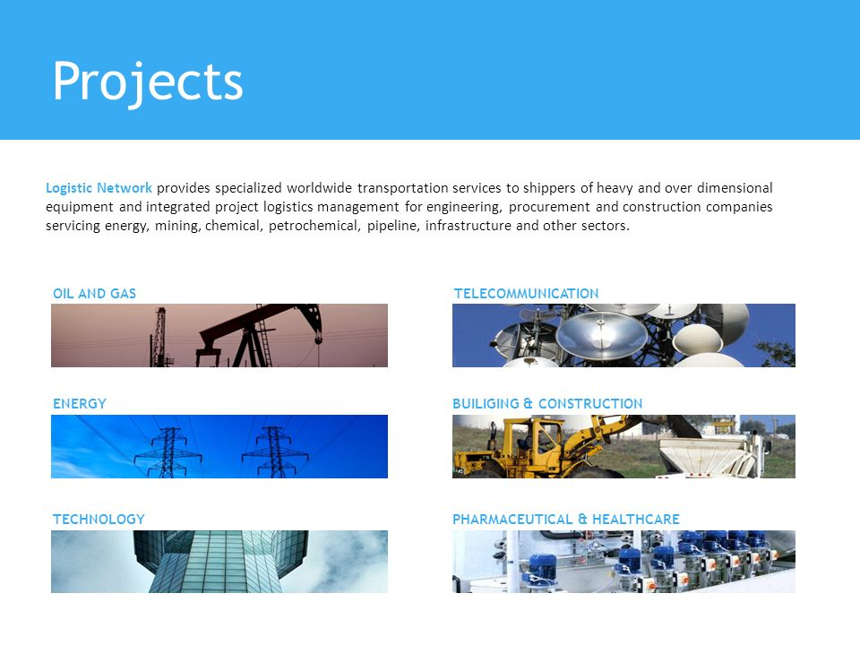 Projects Logistic Network provides specialized worldwide transportation services to shippers of heavy and over dimensional equipment and integrated pr