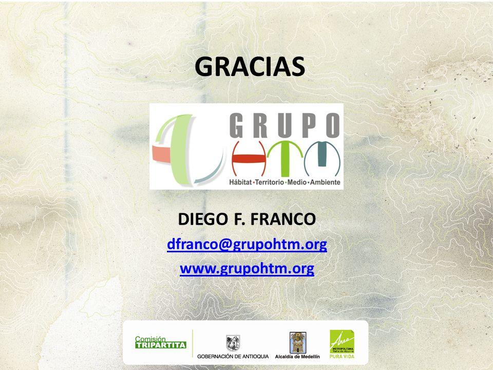 GRACIAS DIEGO F. FRANCO dfranco@grupohtm.org www.grupohtm.org