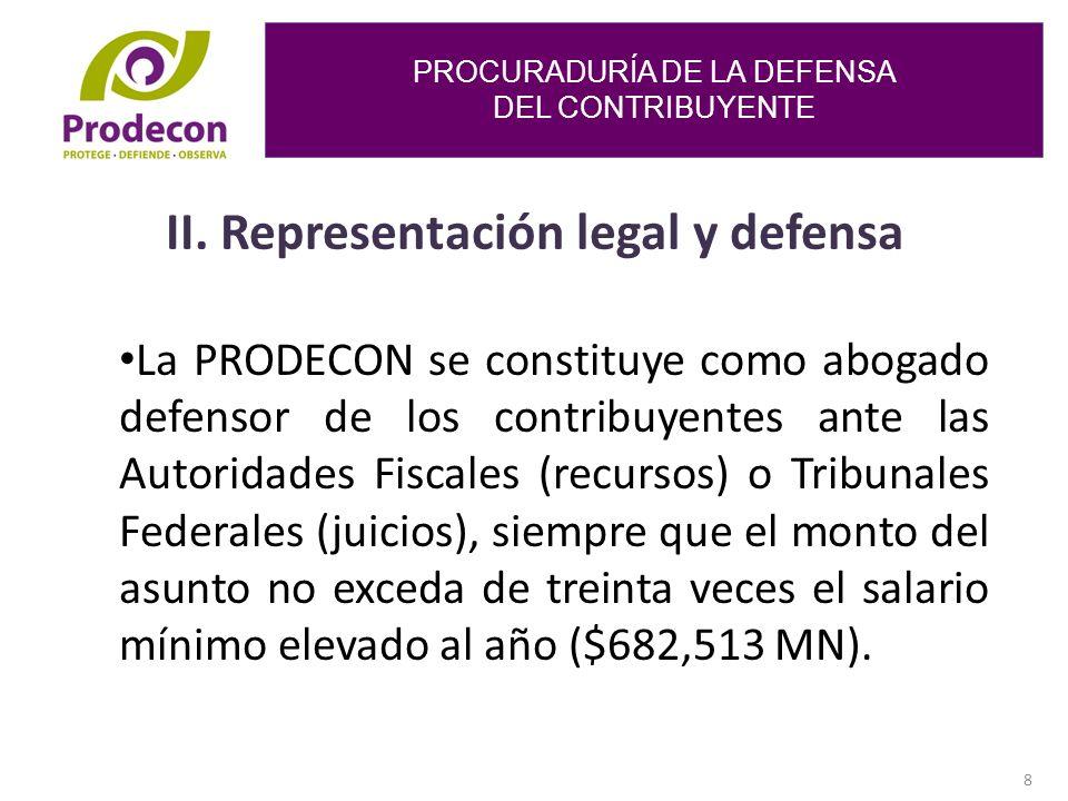 PROCURADURÍA DE LA DEFENSA DEL CONTRIBUYENTE 8 II.