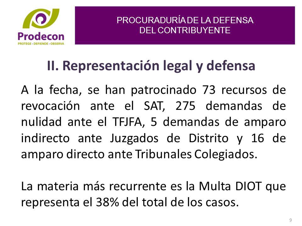 PROCURADURÍA DE LA DEFENSA DEL CONTRIBUYENTE 9 II.