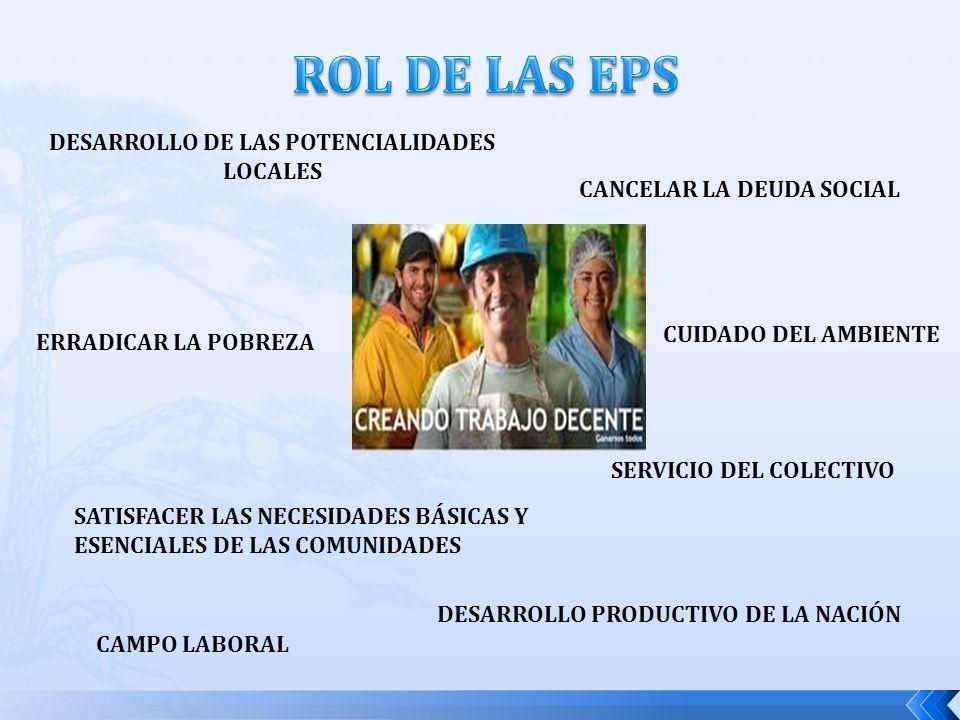 DESARROLLO PRODUCTIVO DE LA NACIÓN CANCELAR LA DEUDA SOCIAL SERVICIO DEL COLECTIVO ERRADICAR LA POBREZA DESARROLLO DE LAS POTENCIALIDADES LOCALES CAMPO LABORAL SATISFACER LAS NECESIDADES BÁSICAS Y ESENCIALES DE LAS COMUNIDADES CUIDADO DEL AMBIENTE