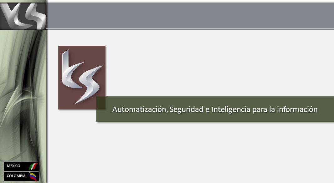 Automatización, Seguridad e Inteligencia para la información COLOMBIA MÉXICO