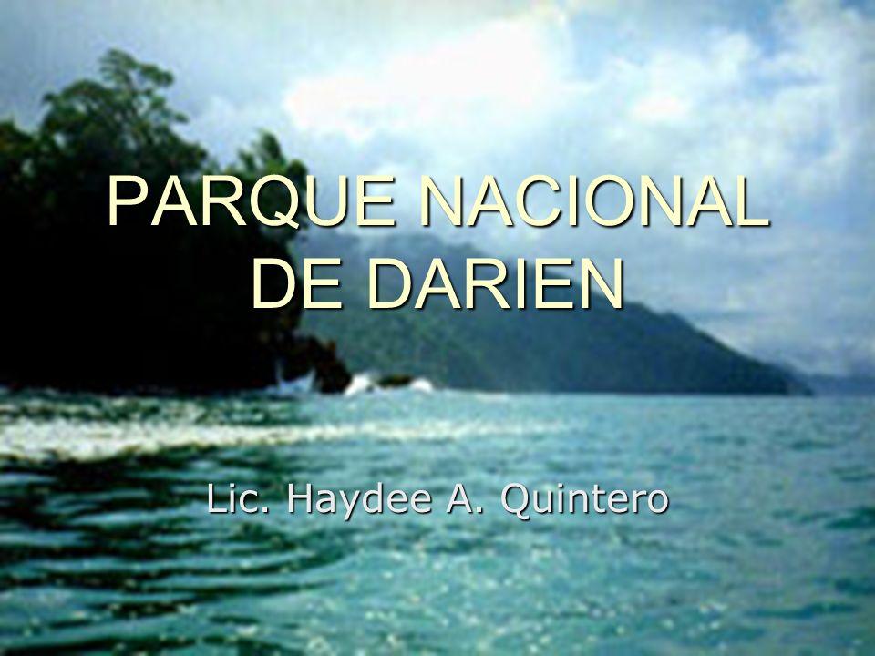 PARQUE NACIONAL DE DARIEN Lic. Haydee A. Quintero