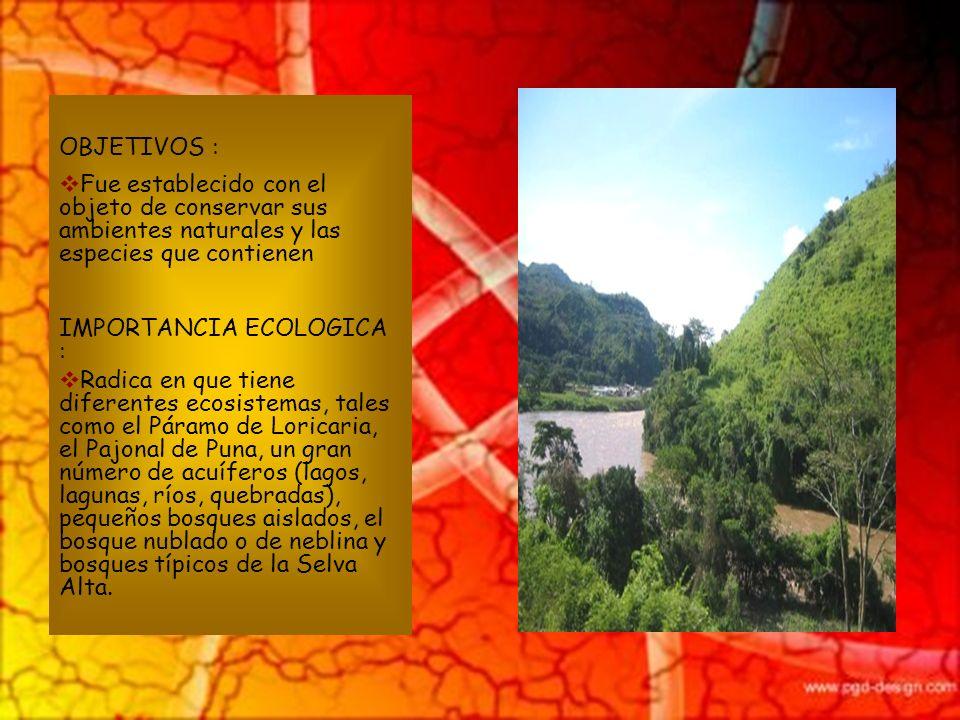 UBICACION : Se encuentra ubicado en las regiones Amazonas y San Martín, provincia de Mariscal Cáceres, capital Juanjui, Distrito de Huicungo sobre una