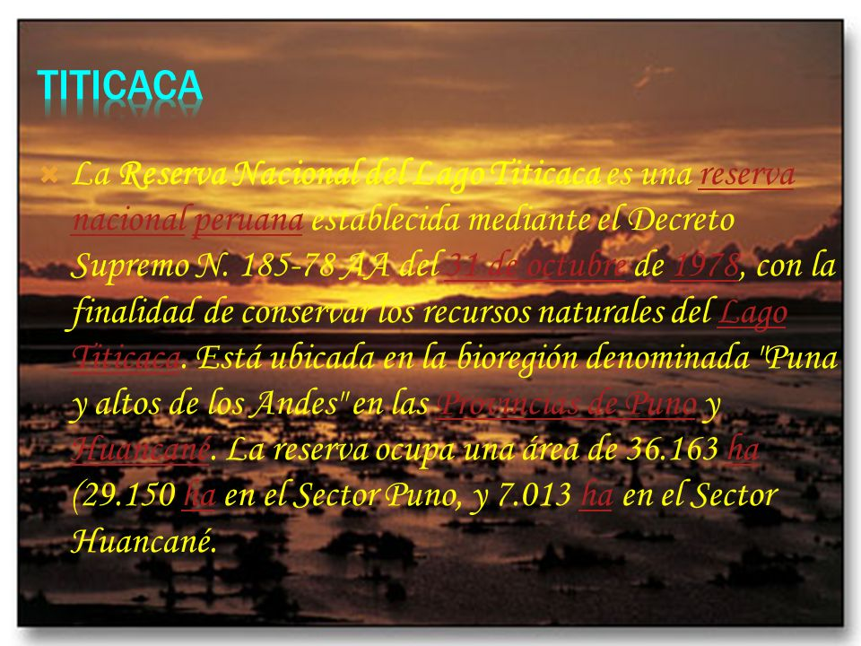 La Reserva Nacional Salinas y Aguada Blanca fue creada el 9 de agosto de 1979. Esta ubicada en los departamentos peruanos de Arequipa y Moquegua y tie