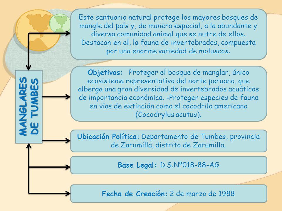 Base Legal: D.S.Nº042-87-AG Fecha de Cración: 23 de julio de 1987 Ubicación Política: Departamento de Apurímac, provincia de Abancay, distrito de Tamb