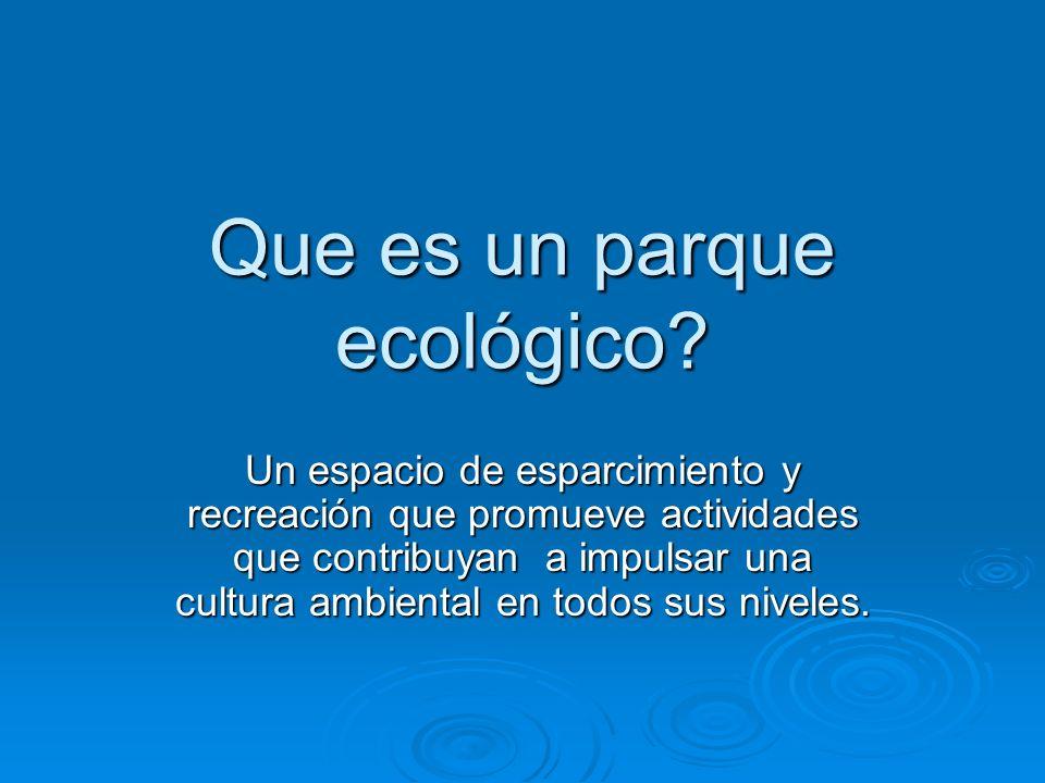 Porque un parque ecológico.?