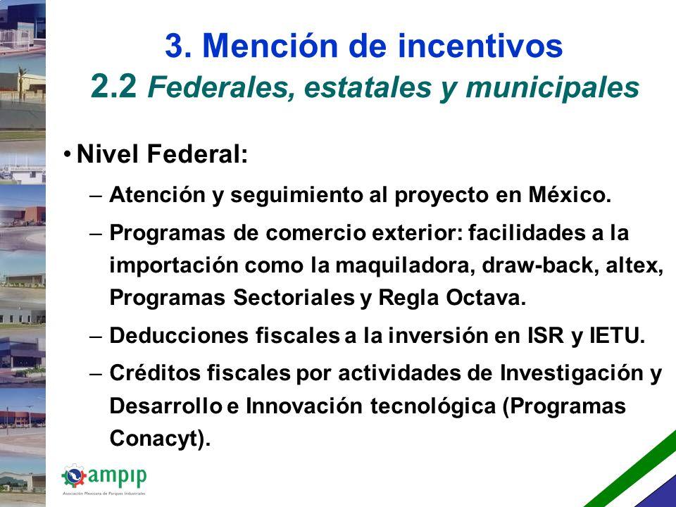 3.MENCION DE INCENTIVOS.