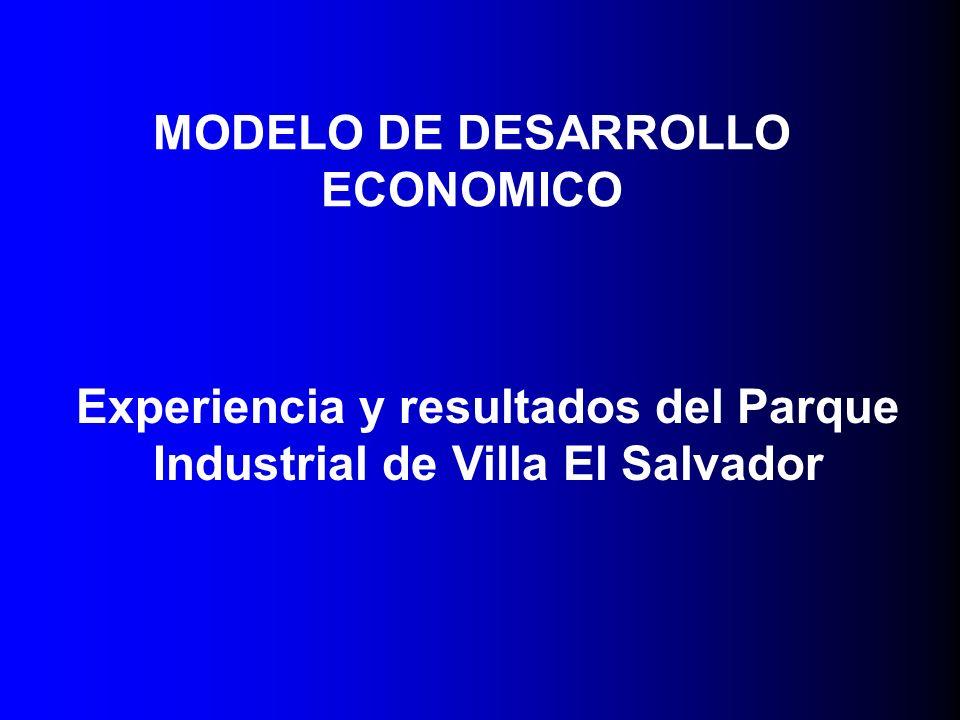 MODELO DE DESARROLLO ECONOMICO Experiencia y resultados del Parque Industrial de Villa El Salvador