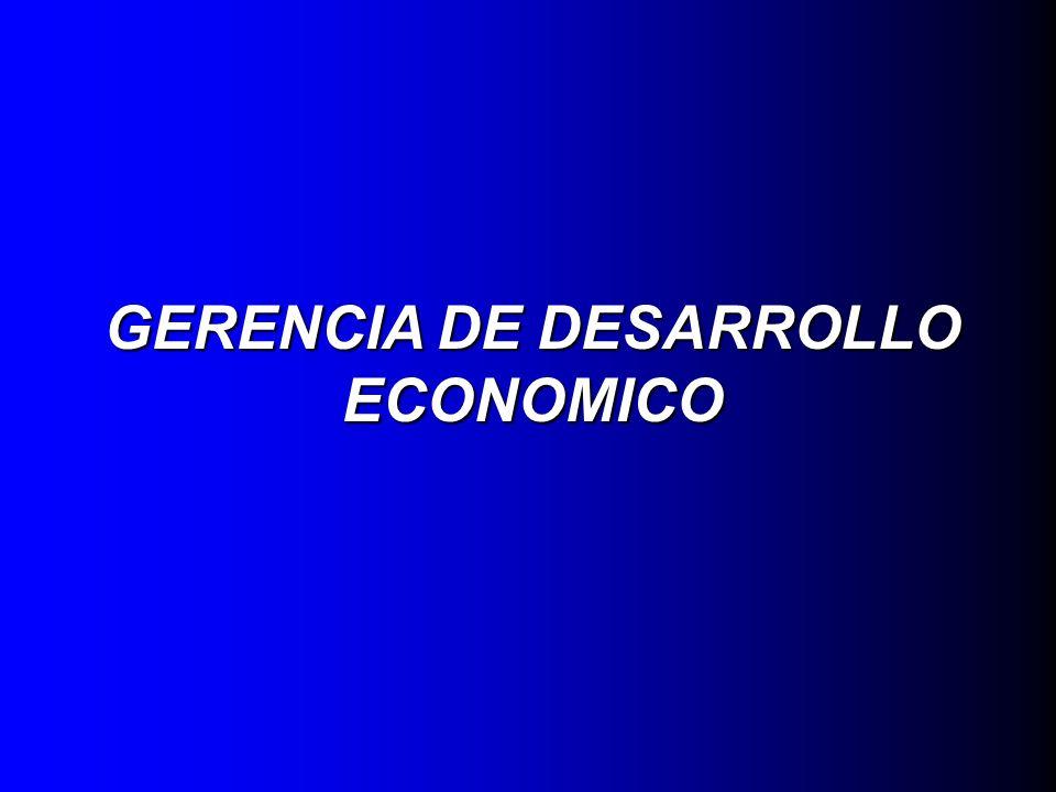 GERENCIA DE DESARROLLO ECONOMICO