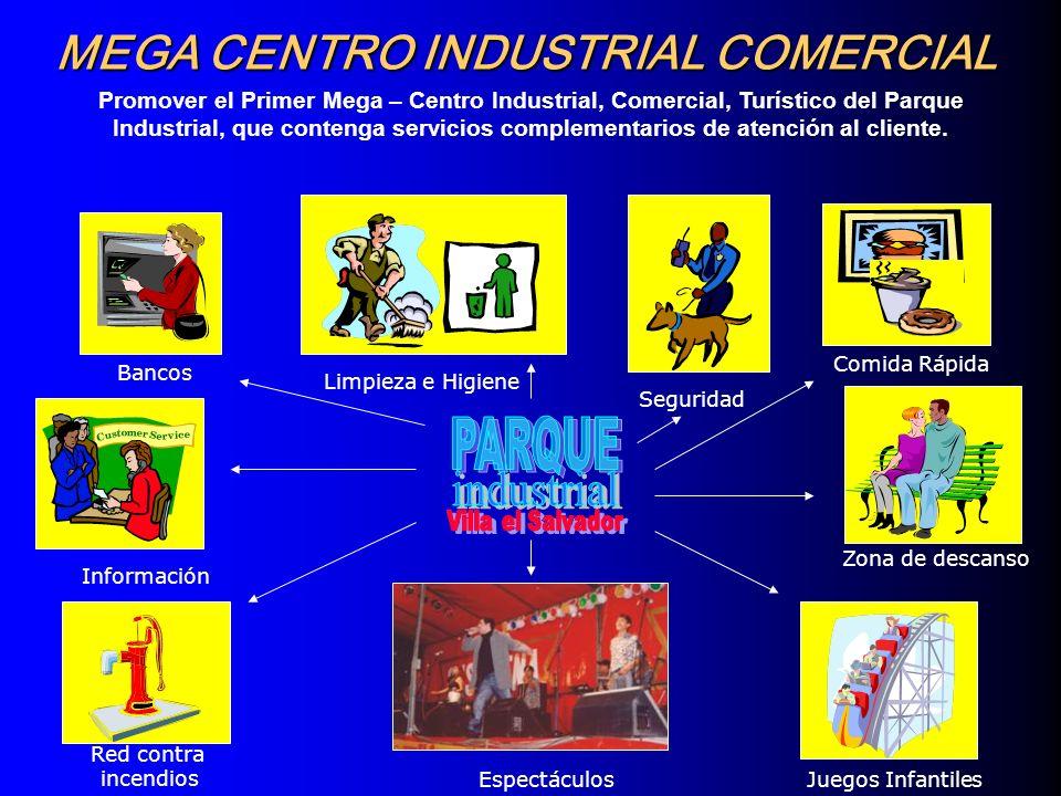 Promover el Primer Mega – Centro Industrial, Comercial, Turístico del Parque Industrial, que contenga servicios complementarios de atención al cliente