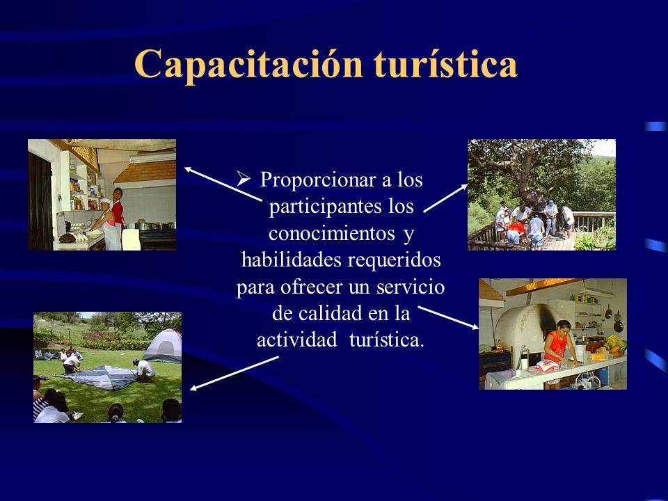 Educación ambiental Promover una conciencia ambiental, tanto en los visitantes como en la comunidad participante. Propiciar mediante la capacitación y