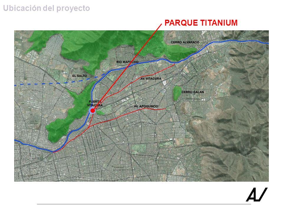 Ubicación del proyecto PARQUE TITANIUM