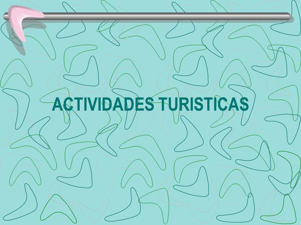 ACTIVIDADES TURISTICAS