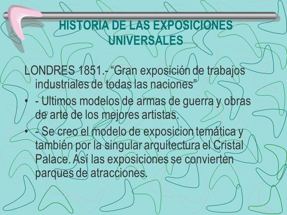 HISTORIA DE LAS EXPOSICIONES UNIVERSALES LONDRES 1851.- Gran exposición de trabajos industriales de todas las naciones - Ultimos modelos de armas de g