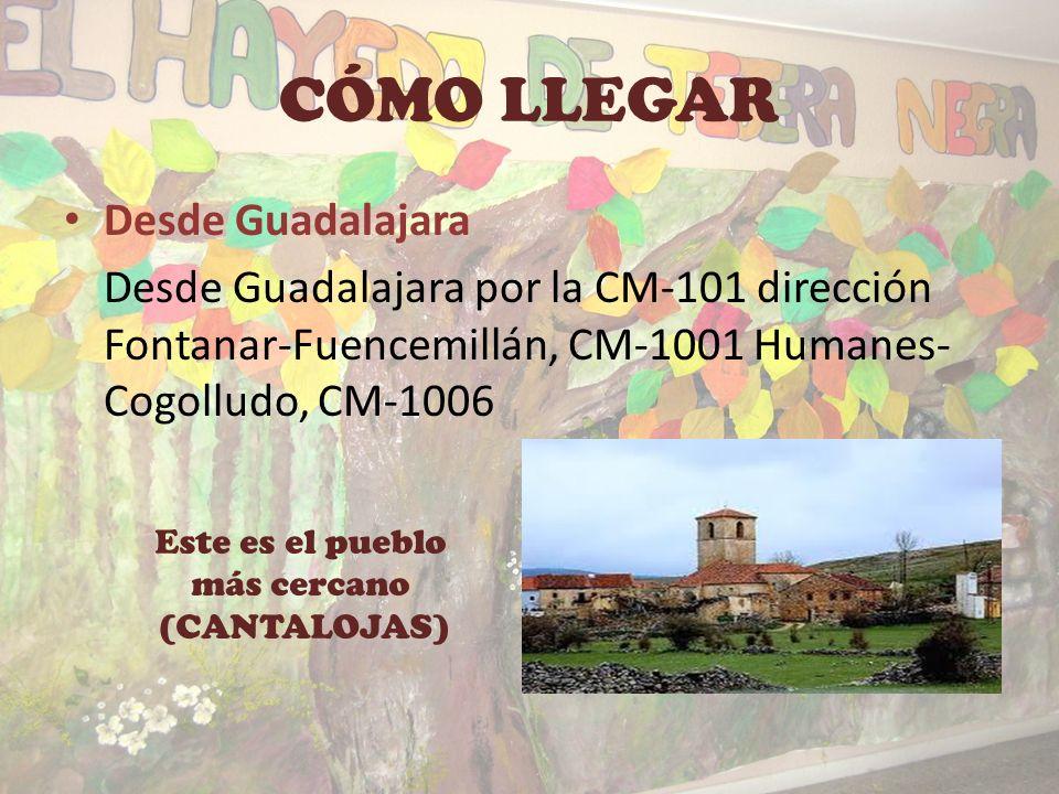 PRESENTACIÓN Y UBICACIÓN EN EL MAPA Situado en Cantalojas, en el rincón noroccidental de la provincia de Guadalajara, en la Comunidad Autónoma de Cast