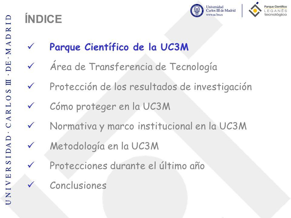 Parque Científico de la Universidad Carlos III Misión Estimular y gestionar el flujo de conocimiento y tecnología entre la investigación que se desarrolla en la Universidad y el entorno empresarial y social, contribuyendo al desarrollo económico tanto local como regional.