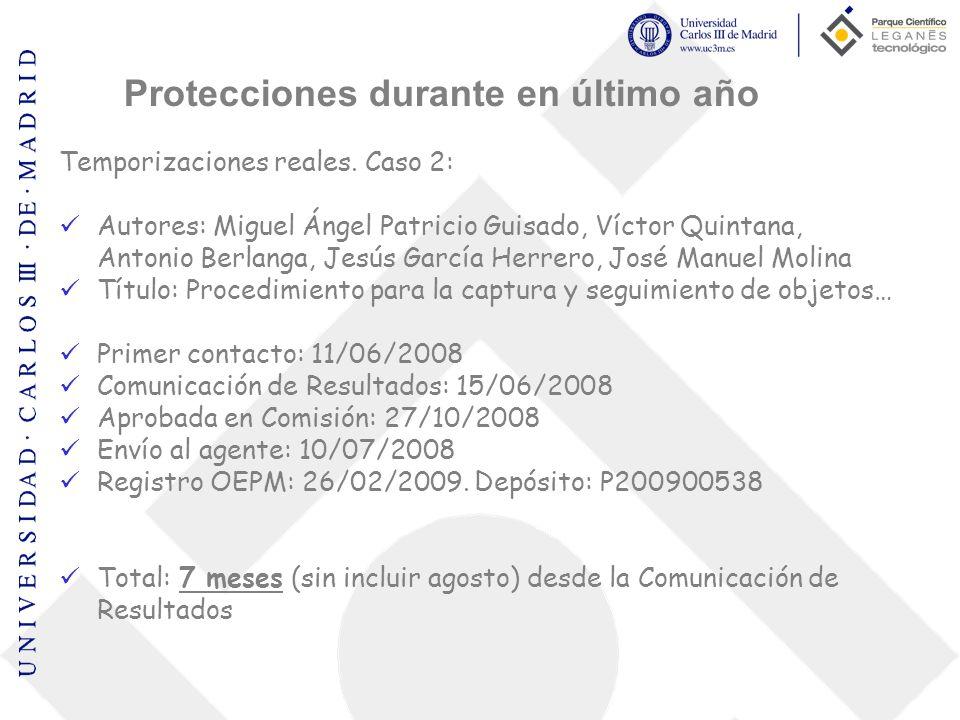 Temporizaciones reales. Caso 2: Autores: Miguel Ángel Patricio Guisado, Víctor Quintana, Antonio Berlanga, Jesús García Herrero, José Manuel Molina Tí