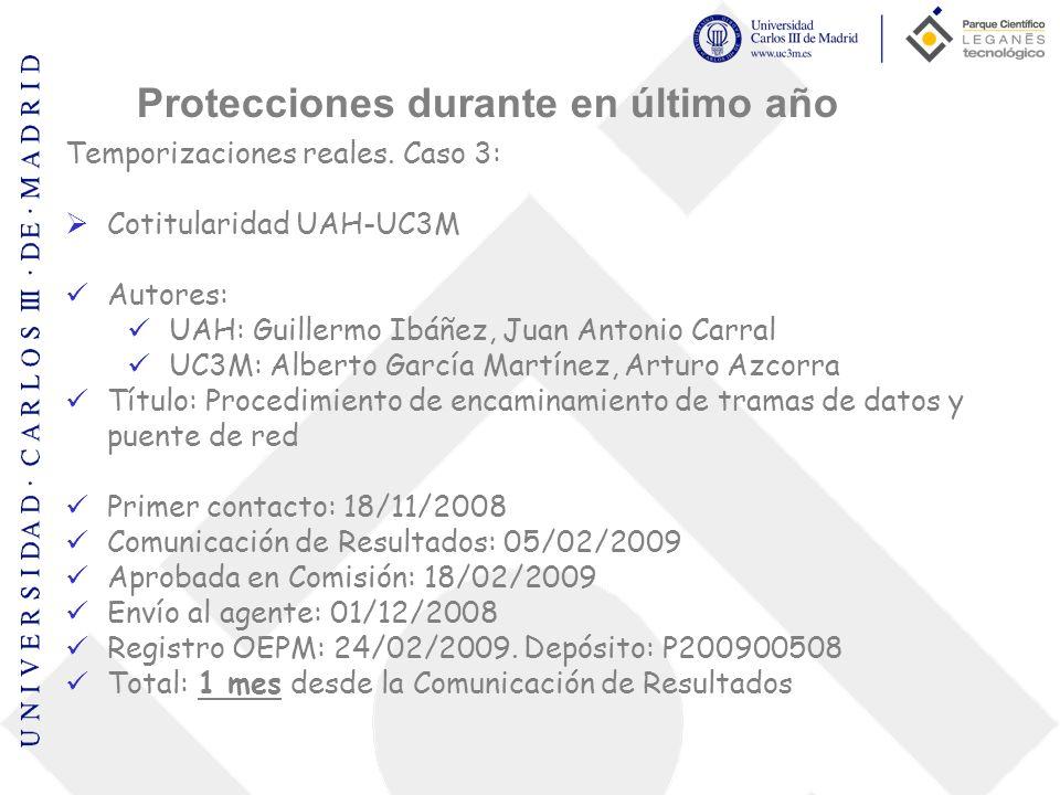 Temporizaciones reales. Caso 3: Cotitularidad UAH-UC3M Autores: UAH: Guillermo Ibáñez, Juan Antonio Carral UC3M: Alberto García Martínez, Arturo Azcor