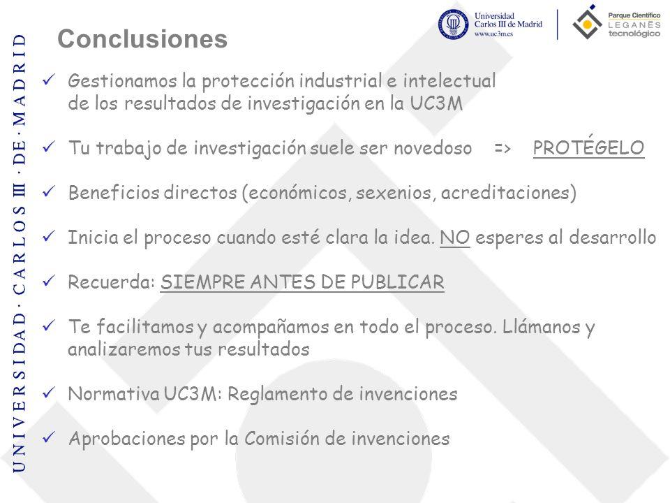 Gestionamos la protección industrial e intelectual de los resultados de investigación en la UC3M Tu trabajo de investigación suele ser novedoso => PRO