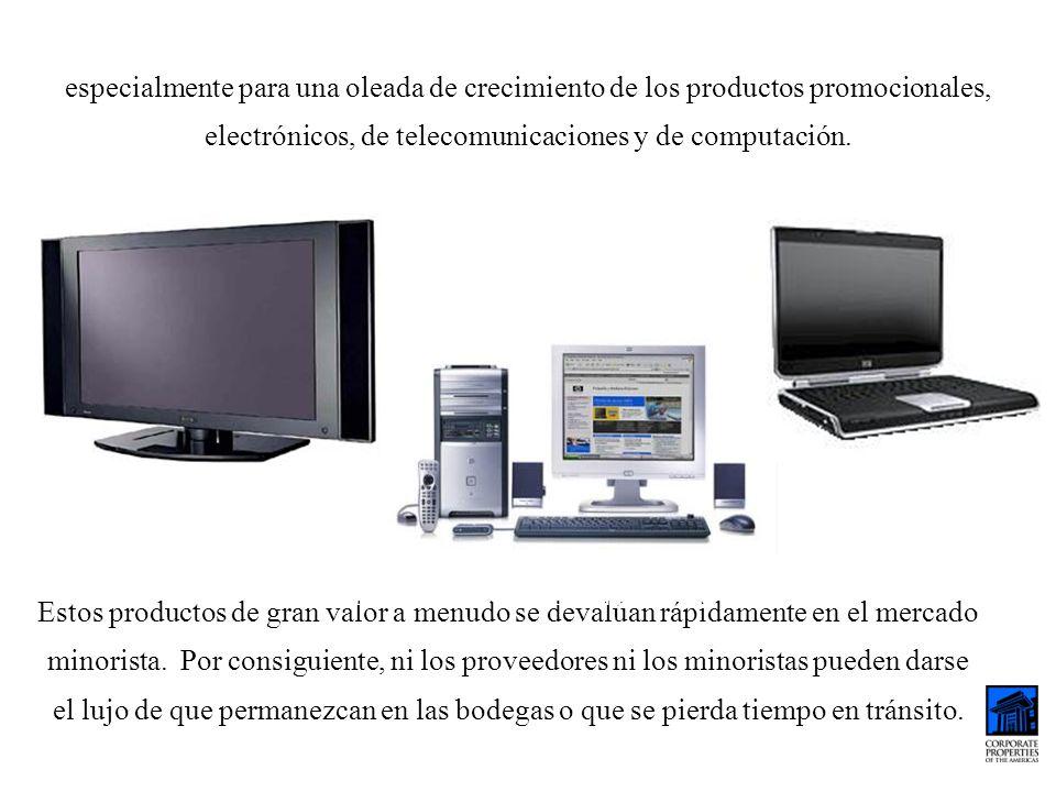 especialmente para una oleada de crecimiento de los productos promocionales, electrónicos, de telecomunicaciones y de computación. Estos productos de