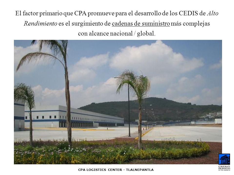 El factor primario que CPA promueve para el desarrollo de los CEDIS de Alto Rendimiento es el surgimiento de cadenas de suministro más complejas con a