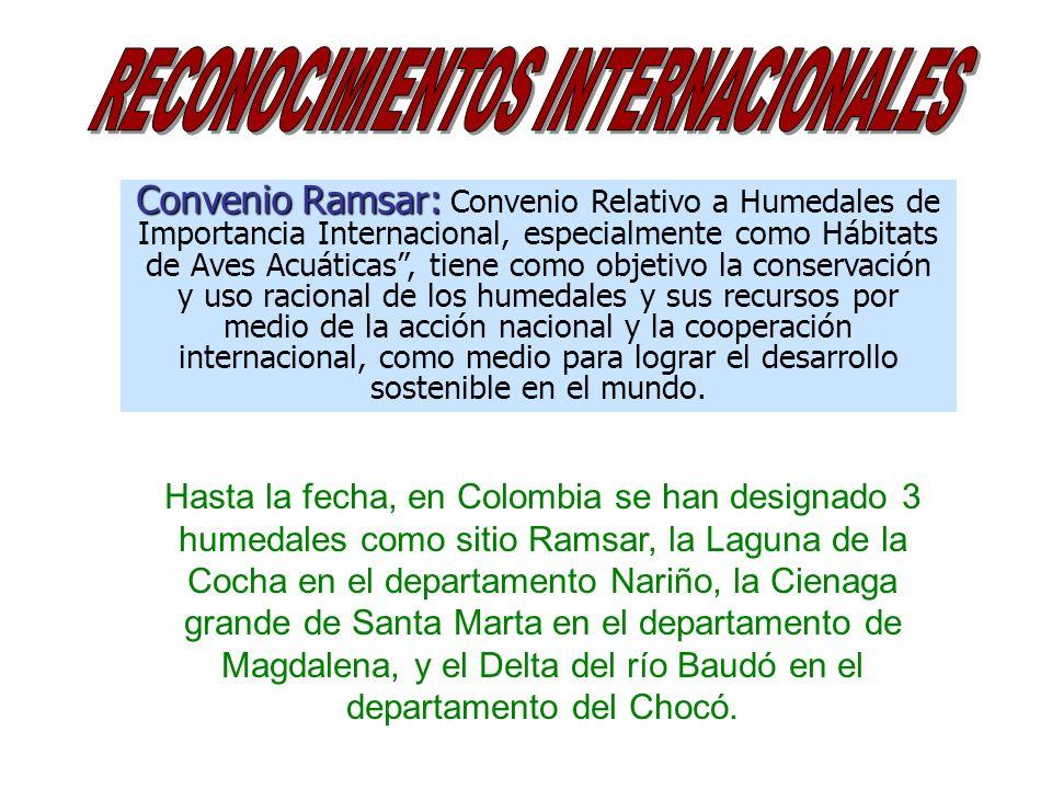 Convenio Ramsar: Convenio Ramsar: Convenio Relativo a Humedales de Importancia Internacional, especialmente como Hábitats de Aves Acuáticas, tiene com