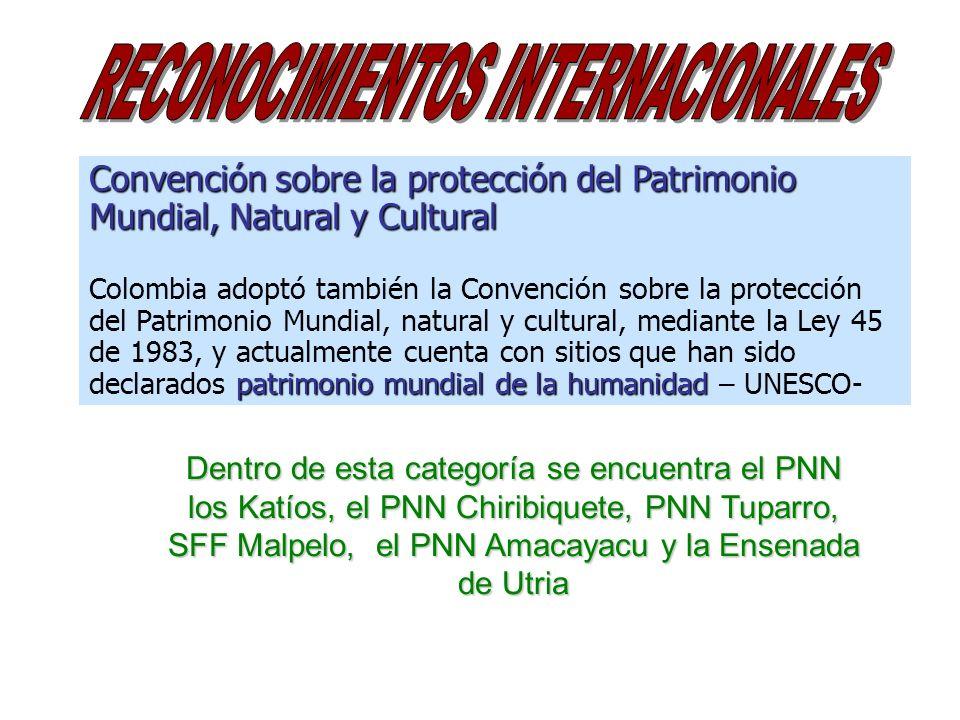 Convención sobre la protección del Patrimonio Mundial, Natural y Cultural patrimonio mundial de la humanidad Colombia adoptó también la Convención sob