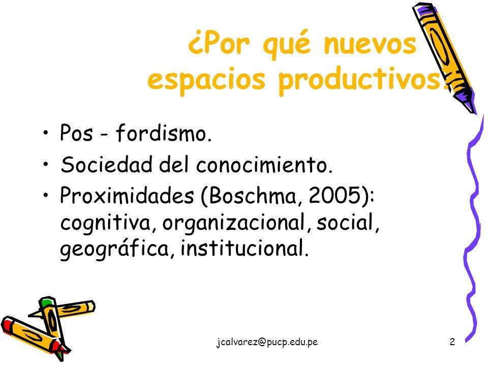 2 ¿Por qué nuevos espacios productivos.Pos - fordismo.