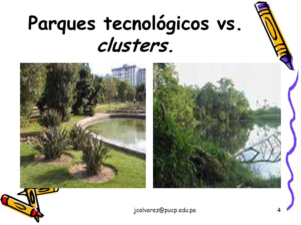 jcalvarez@pucp.edu.pe4 Parques tecnológicos vs. clusters.
