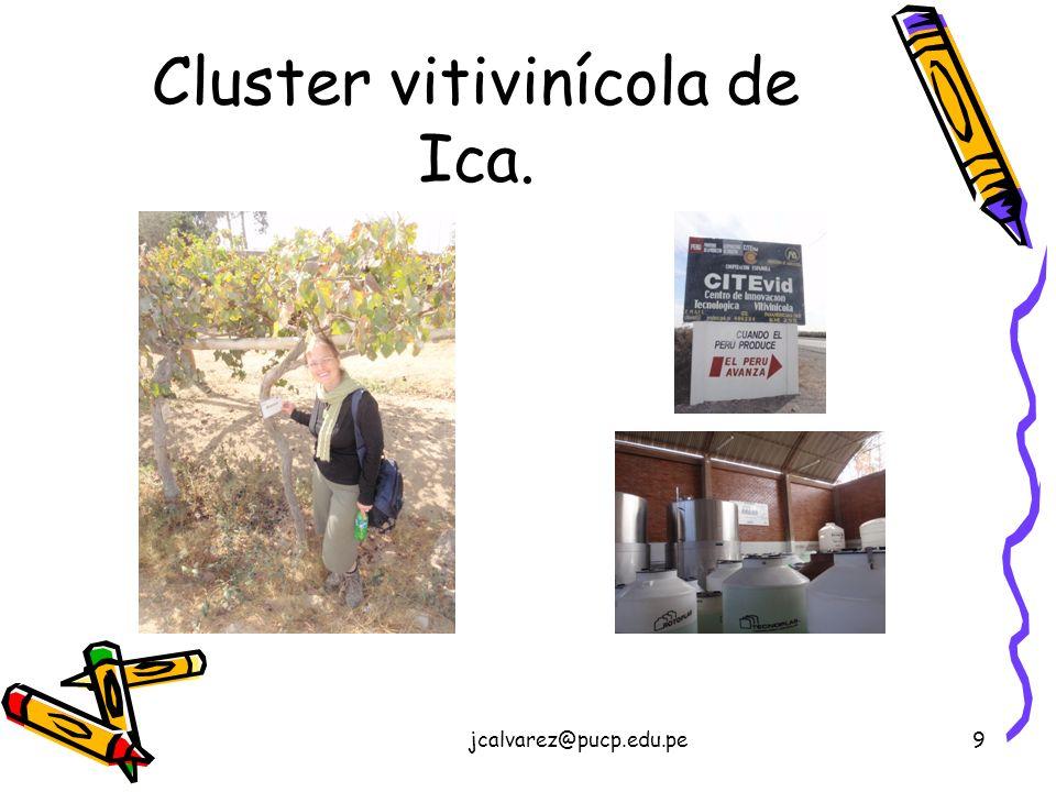 jcalvarez@pucp.edu.pe9 Cluster vitivinícola de Ica.