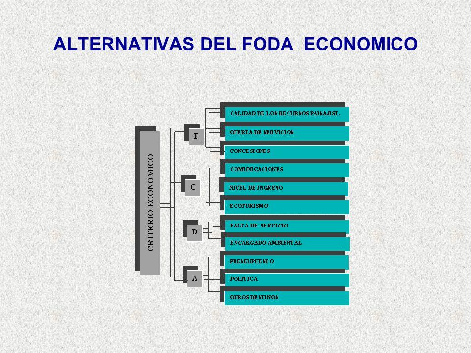 ALTERNATIVAS DEL FODA ECONOMICO