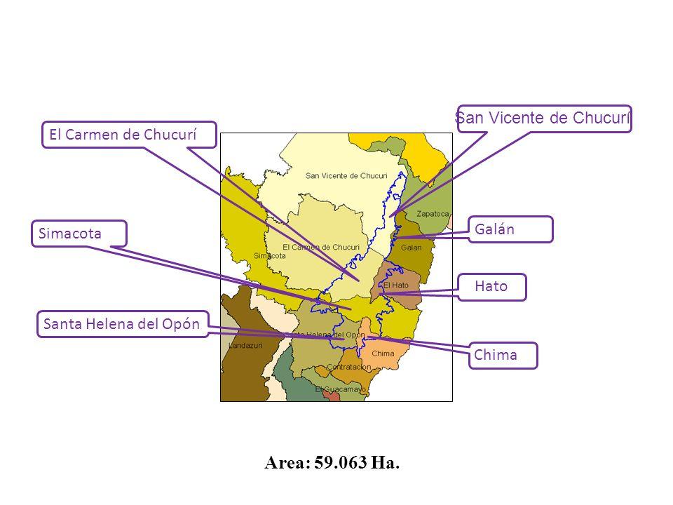 El Carmen de Chucurí Simacota Santa Helena del Opón Galán Hato Chima Area: 59.063 Ha. San Vicente de Chucurí
