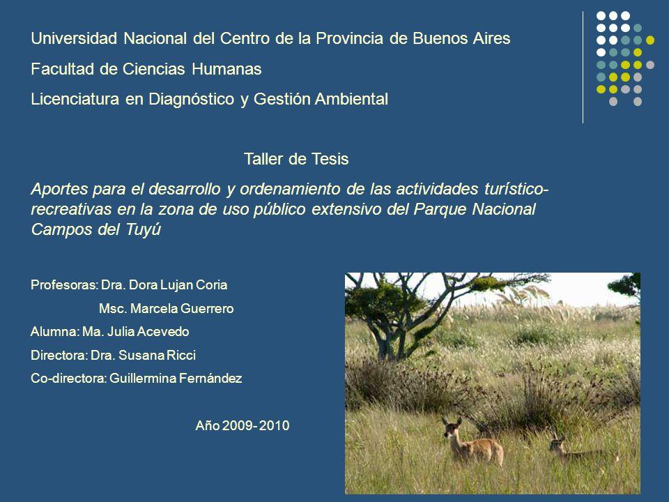 Universidad Nacional del Centro de la Provincia de Buenos Aires Facultad de Ciencias Humanas Licenciatura en Diagnóstico y Gestión Ambiental Taller de
