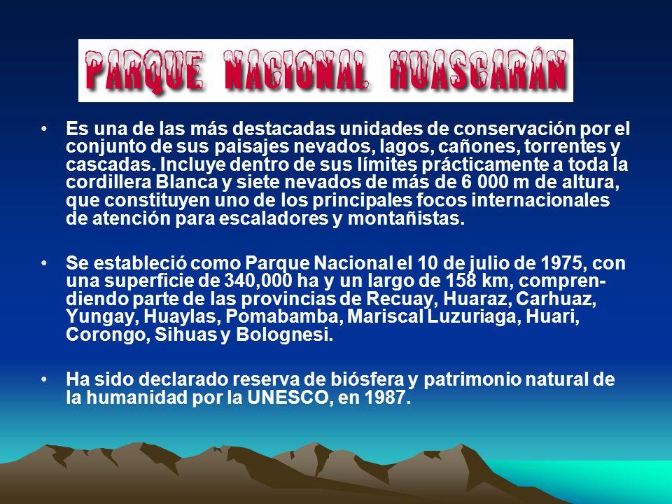 Es una de las más destacadas unidades de conservación por el conjunto de sus paisajes nevados, lagos, cañones, torrentes y cascadas. Incluye dentro de