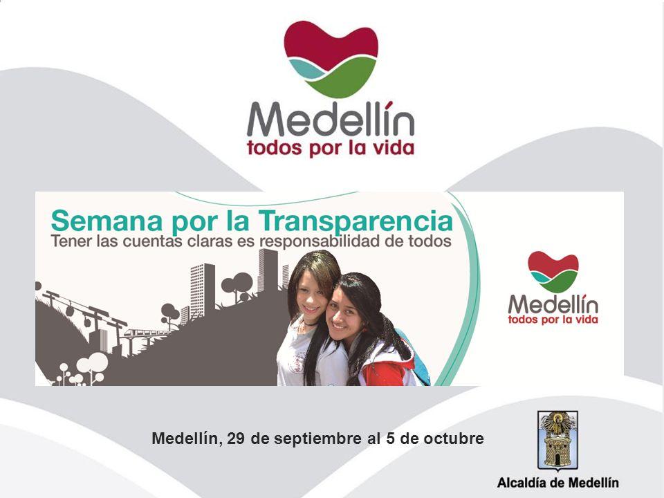 Medellín, 29 de septiembre al 5 de octubre